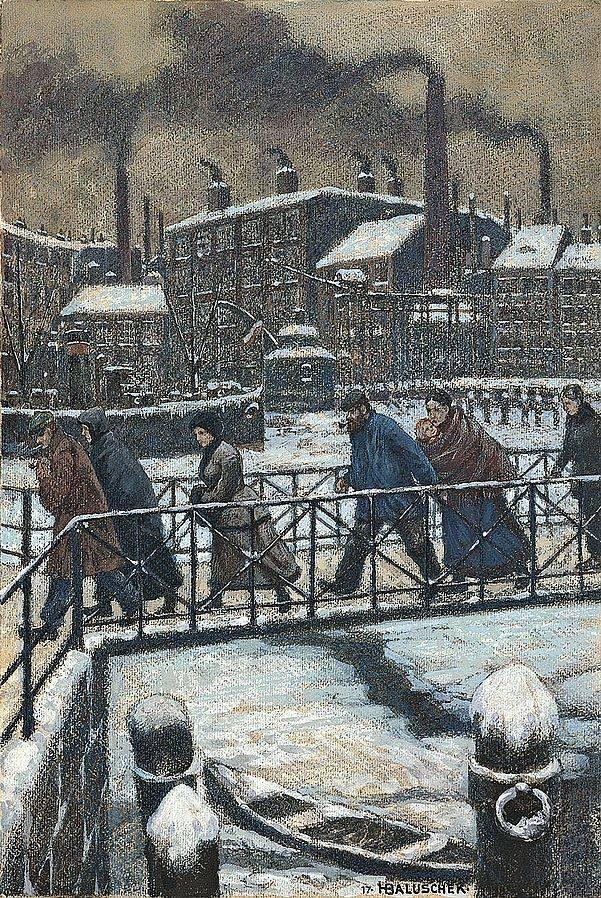 Baluschek Kalte 1879 1935 Peintre Allemand Droit De Parole Droit De Parole